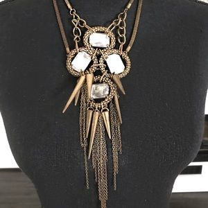 Urban Outfitters spiked jeweled necklace